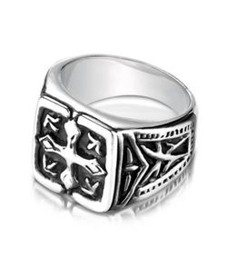 JustMensRings - Cobalt Chrome Signet Style Ring
