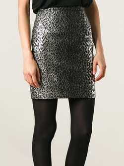 Saint Laurent - Leopard Jacquard Skirt