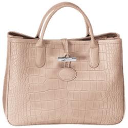 Longchamp - Roseau Croco Tote Bag