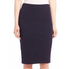 Armani Collezioni  - Double Wool Crepe Jersey Skirt