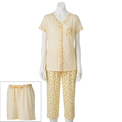 Croft & Barrow - Printed Knit Pajama Set