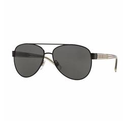 Burberry  - Check-Temple Metal Aviator Sunglasses