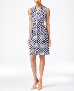 Charter Club  - Sleeveless Iconic-Print Shirtdress