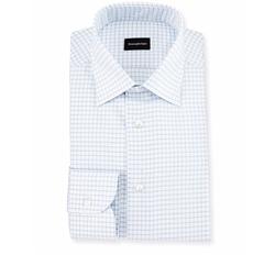 Ermenegildo Zegna - Box Check Twill Dress Shirt