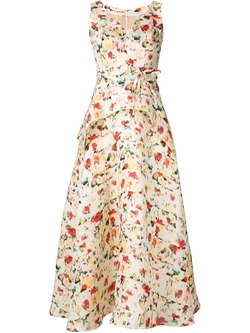 Carolina Herrera   - Floral Print Maxi A-Line Dress