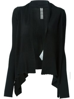 Rick Owens   - Shawl Collar Open Front Cardigan