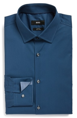 Boss - Slim Fit Easy Iron Solid Dress Shirt