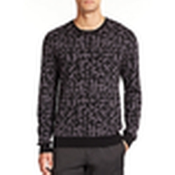 Saks Fifth Avenue Collection  - Camouflage Crewneck Sweater