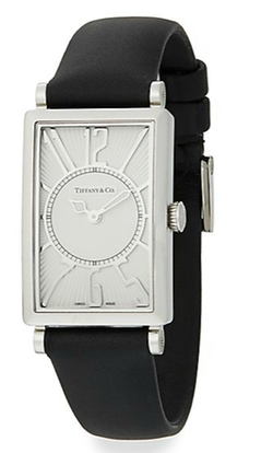 Tiffany & Co. - Gallery Stainless Steel Leather Strap Watch