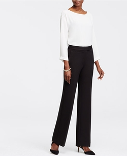 Ann Taylor - Tall Ponte High Waist Flare Trousers