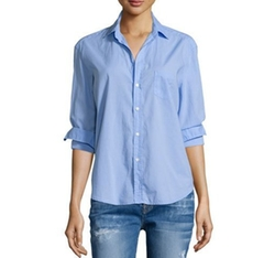 Frank And Eileen - Eileen Button-Front Poplin Shirt