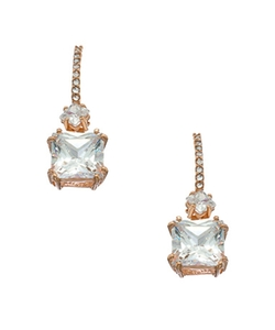 Genevive By CZC - Square Drop Earrings