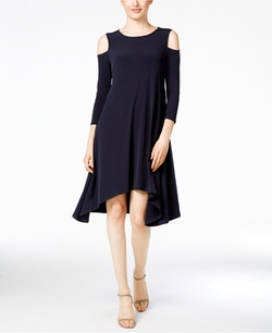 Alfani - Cold-Shoulder Shift Dress