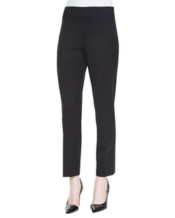Oscar De La Renta - Stretch-Wool Twill Slim Pants
