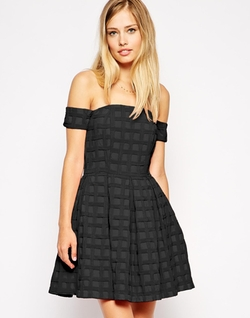 Asos - Bardot Textured Prom Dress