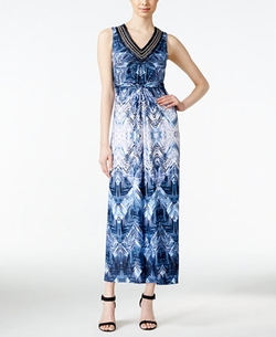 NY Collection - Petite Printed Maxi Dress