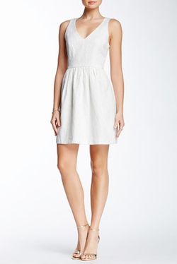 4.Collective  - V-Neck Jacquard Dress