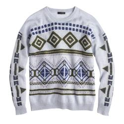 J. Crew - Abstract Fair Isle Sweater