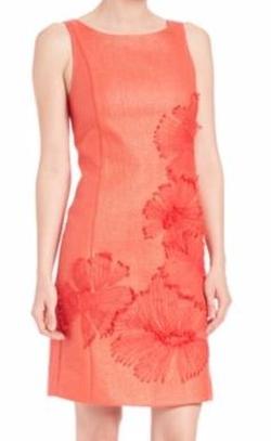 Josie Natori  - Lacquered Raffia Dress