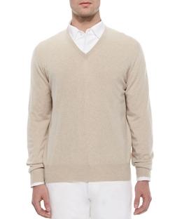 Loro Piana  - Baby Cashmere V-Neck Sweater
