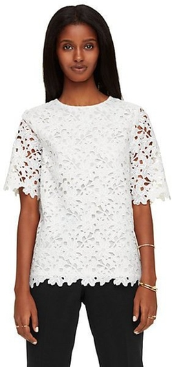 Kate Spade New York - Floral Lace Short Sleeve Top