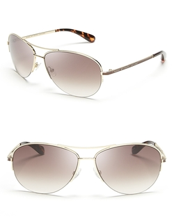 Marc By Marc Jacobs - Aviator Sunglasses With Colored Tips