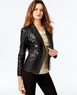 Vakko for INC International Concepts - Faux-Leather Blazer