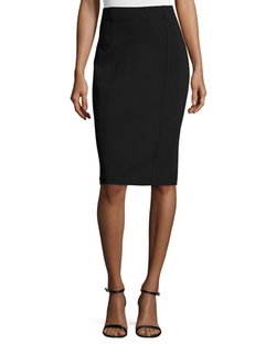 St. John Collection - Luxe Sculpture Knit High-Waist Skirt