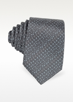 Lanvin - Signature Printed Twill Silk Narrow Tie