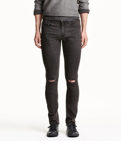 H&M - Super Skinny Low Ripped Jeans