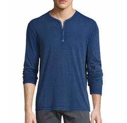 John Varvatos Star USA - Long-Sleeve Henley T-Shirt