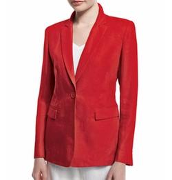 Lafayette 148 New York - Mackenzie Lavish One-Button Linen Jacket