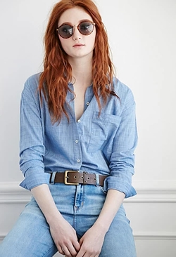 Forever 21 - Patch Pocket Cotton Shirt