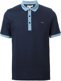 Burberry   - Contrast Collar Polo Shirt