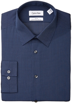 Calvin Klein - Textured Stripe Dress Shirt