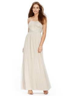Ralph Lauren - Metallic Tulle Gown