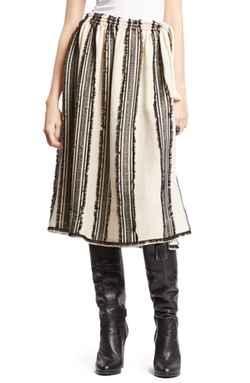Lanvin  - Fil Coupé Stripe Skirt