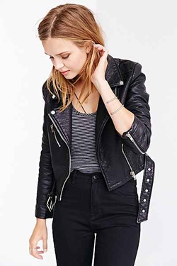 Members Only - Pebbled Vegan Leather Jacket