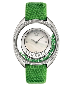 Versace - Destiny Precious Green Strap Watch