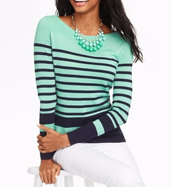 Talbots - Blocked-Stripe Sweater