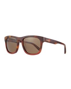 Salvatore Ferragamo - Tortoise Plastic Sunglasses