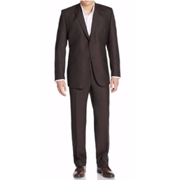 Saks Fifth Avenue Made in Italy  - Pin Dot Wool Two-Button Suit