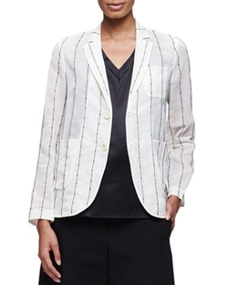Brunello Cucinelli - Paillette-Striped Snap-Front Blazer