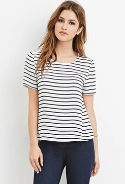Forever 21 - Striped Chiffon Top