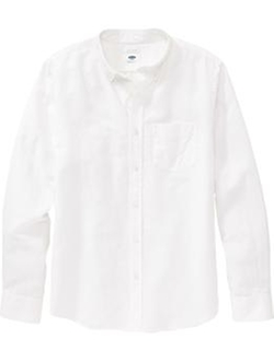 Old-Navy - Slim-Fit Linen-Blend Shirt