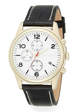 Ted Baker  - Leather Strap Chronograph Watch