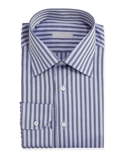 Stefano Ricci - Herringbone Stripe Dress Shirt