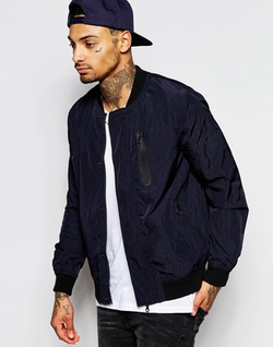 Asos - Chest Pocket Bomber Jacket