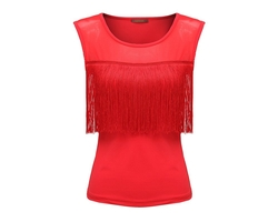 Star Dance - Fringe Dance Sleeveless Blouse