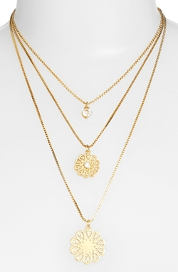 Kate Spade New York - Strike Gold Triple Layer Pendant Necklace